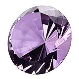 Light Purple Glass Gem Decor / Paperweight