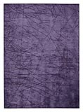 Calvin Klein Purple Scattered Lines Area Rug
