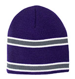 Striped Purple Beanie