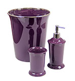 Regal Purple Bathroom Accessories BASICS SET