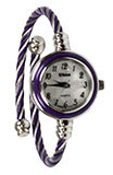 Purple Twisted Cable Watch