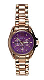 Purple Face Rose Gold Watch