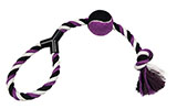 Purple Dog Toy Rope with Tennis Ball