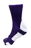 Purple Athletic Socks with White Pattern