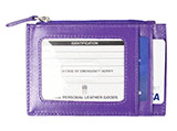 Mini Zippered Purple Wallet