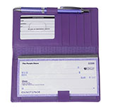 Purple Checkbook Cover Wallet
