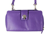 Leather Purple Wallet Purse