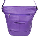 Total Tote Purple Leather Purse