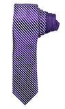 Diagonal Silver Stripe Purple Tie