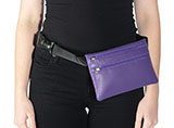 Purple Leather Hip Bag