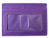 Purple Leather ID Holder