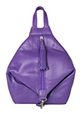 Purple Leather Mini Backpack