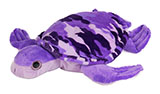 Purple Camouflage Plush Turtle