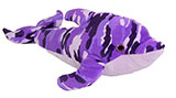 Purple Camouflage Plush Dolphin