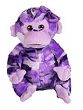 Purple Camouflage Plush Monkey with Bow