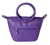 Retro Round Handled Purple Leather Purse