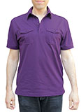 Pocketed Men's Purple Polo Shirt