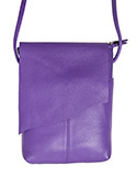 Angle Flap Purple Leather Purse