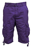 Purple Cargo Shorts - 6 Pocket