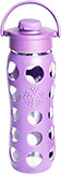 Glass Lilac Water Bottle