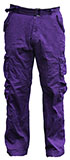 Purple Cargo Pants - 7 Pockets