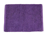 Textured Purple Bath Rug