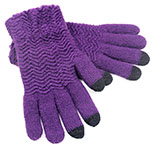 Purple Zig-Zag Touchscreen Gloves