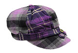 Purple Plaid Cap