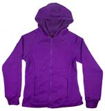 Zip-up Marled Purple Hooded Sweatshirt