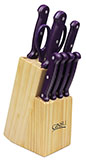 10 Piece Purple Ginsu Knife Set