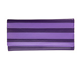 Wide Leather Striped Purple Wallet