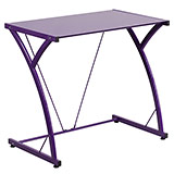 Purple Glass Top Purple Desk