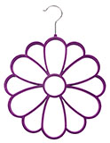 Velvet Purple Scarf Hanger, Flower