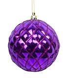Purple Diamond Ball Ornaments, 4 pack