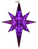 19 Twinkling LED Purple Star