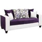 White and Purple Sofa