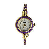 Gold & Purple Twisted Cable Watch