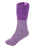 White and Purple Slipper Socks