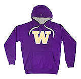 University of Washington (UW) Purple Hooded W Sweatshirt