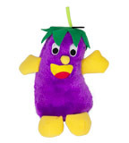 "Eggplant ""Giggling"" Purple Dog Toy"