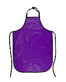Vinyl Purple Apron (cooking, pet grooming)