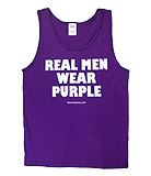 Real Men Wear Purple Tank Top