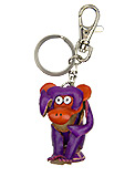 Purple Leather Keychain - Monkey