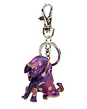Purple Leather Keychain - Hound Dog