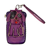 Purple Leather Phone Case - Dog