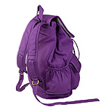 Purple Drawstring Canvas Backpack