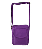 Small Canvas Purple Crossbody Bag