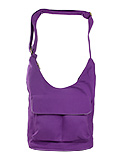 Purple Canvas Hobo Bag