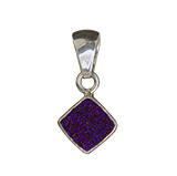 Square Amethyst Druse Necklace