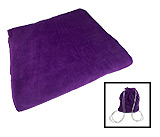 Purple Beach Towel With Self Tote Bag